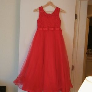 BIG RED EVENING GOWN